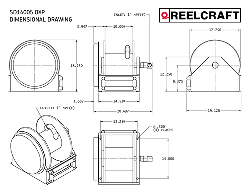 SD14005 OLP Dimensions